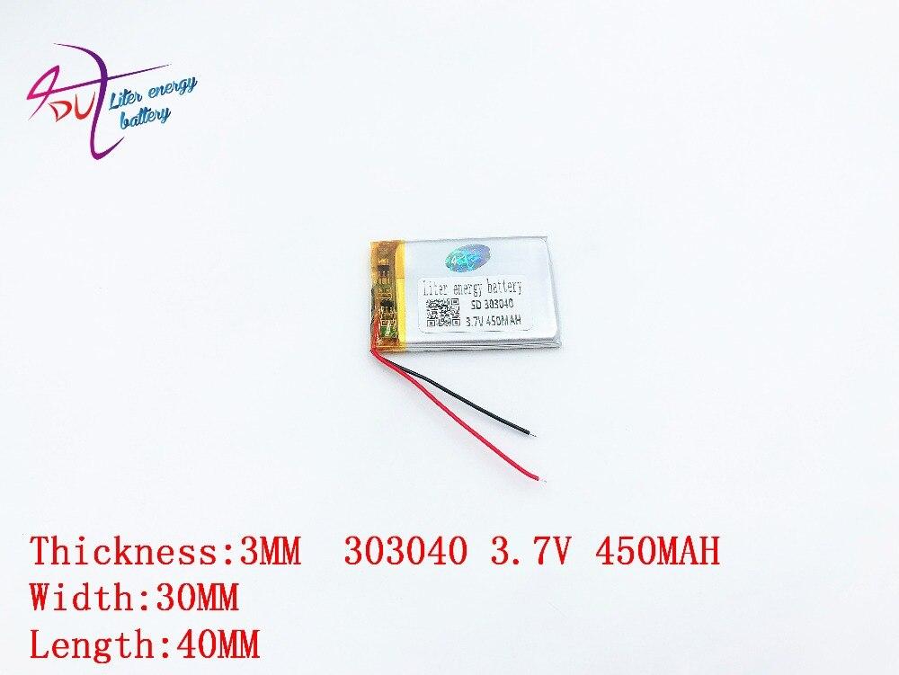 3.7V litij polimerska baterija 303040 drugi mali stereo baterija pedometar 450MAH Tablet polimerna baterija