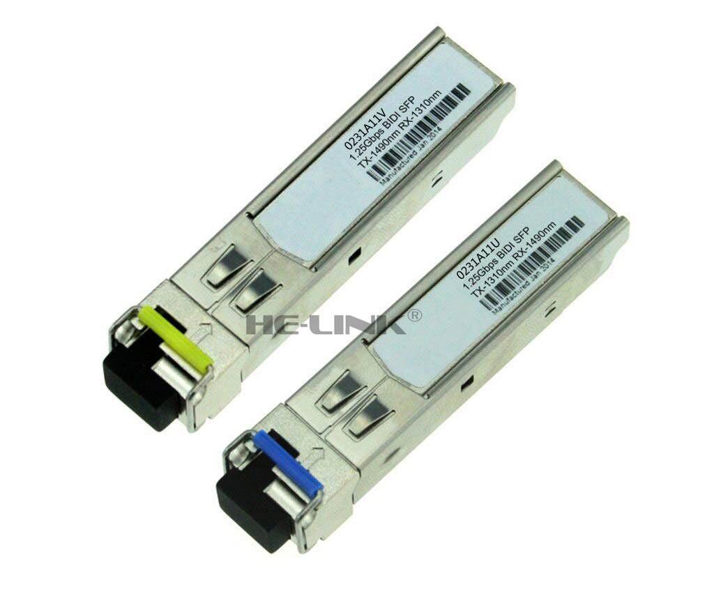 Cheap Price Lodfiber 0231a11u/0231a11v H-ua-wei Compatible 1.25g 1310/1490nm Bidi 10km Transceiver Fiber Optic Equipments