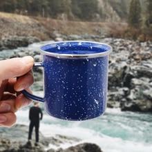 330ML Camping Hiking Creative Coffee Mug Travel Tea Cup Drinkware Milk Enamel Mugs Outdoor Home Office Personalized Gifts Men