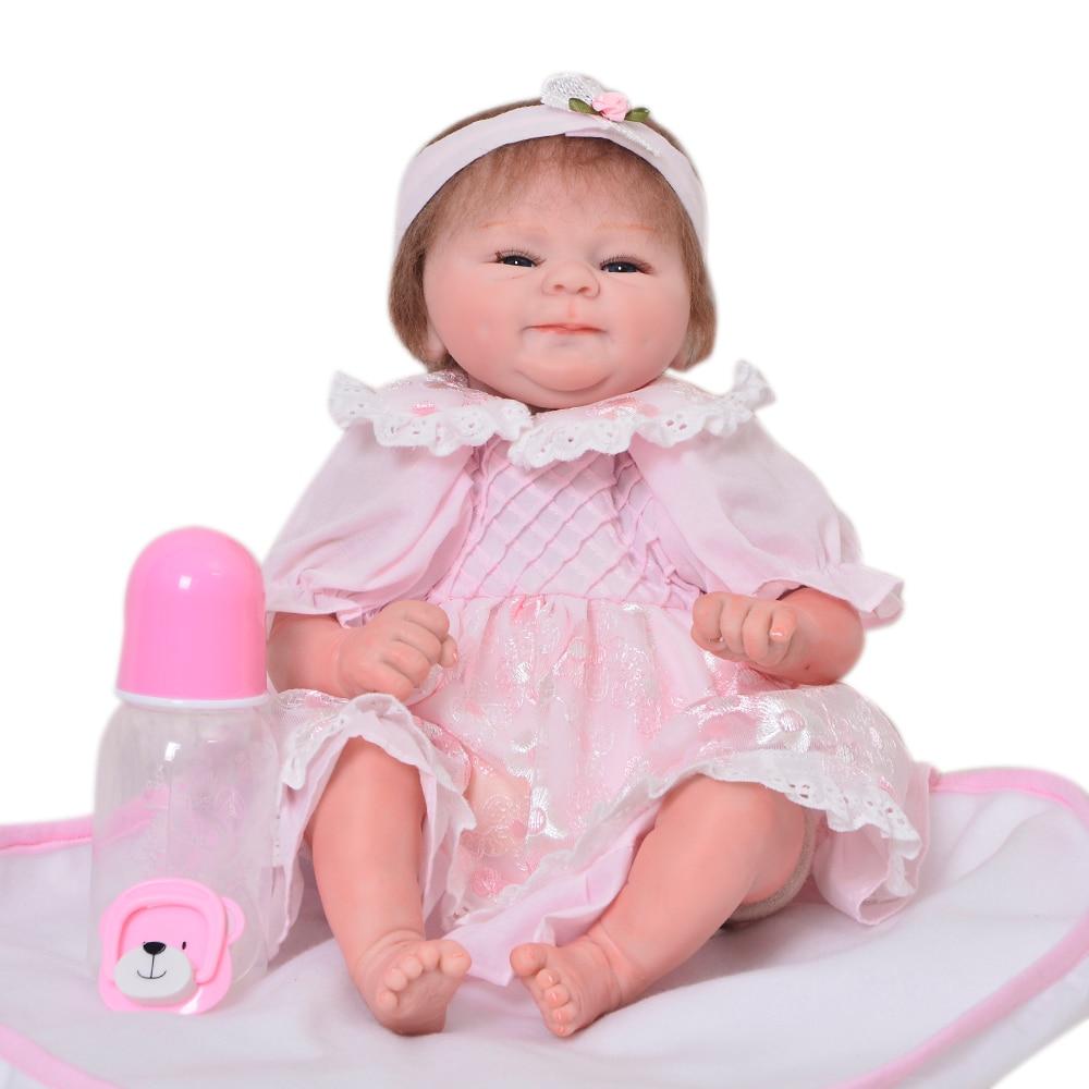Здесь продается   43 cm Soft Silicone Babies Reborn Dolls Lifelike Baby Born Doll Wholesale 17