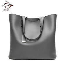 New 2018 Fashion Vintage Big Casual Tote Women Leather Handbag Luxury Lady Purse Pocket Messenger Shoulder Bag Sac Bolsos Mujer