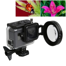 For GoPro HERO5 Sport Action Camera Professional 58mm 16X Macro Lens Close-up Filter Lens Cap Base Adapter Ring Lens Hand Strap