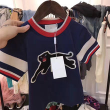 New Baby Kids Clothes Cool Leopard Animal Pattern T shirt Summer Fashion Tops Tee for Boys and Girls Cotton T-shirt Clothing