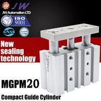Tri-haste Do Cilindro de Ar MGPM Cilindro Guia compacto/MGPL 20-10 * 20X25X30X40X50X75X100X125X150X200Z