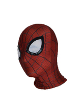 Halloween Spiderman mask Cosplay Costume 3D print Lycra Spandex Mask Red / Red Adult sizes Party supplies