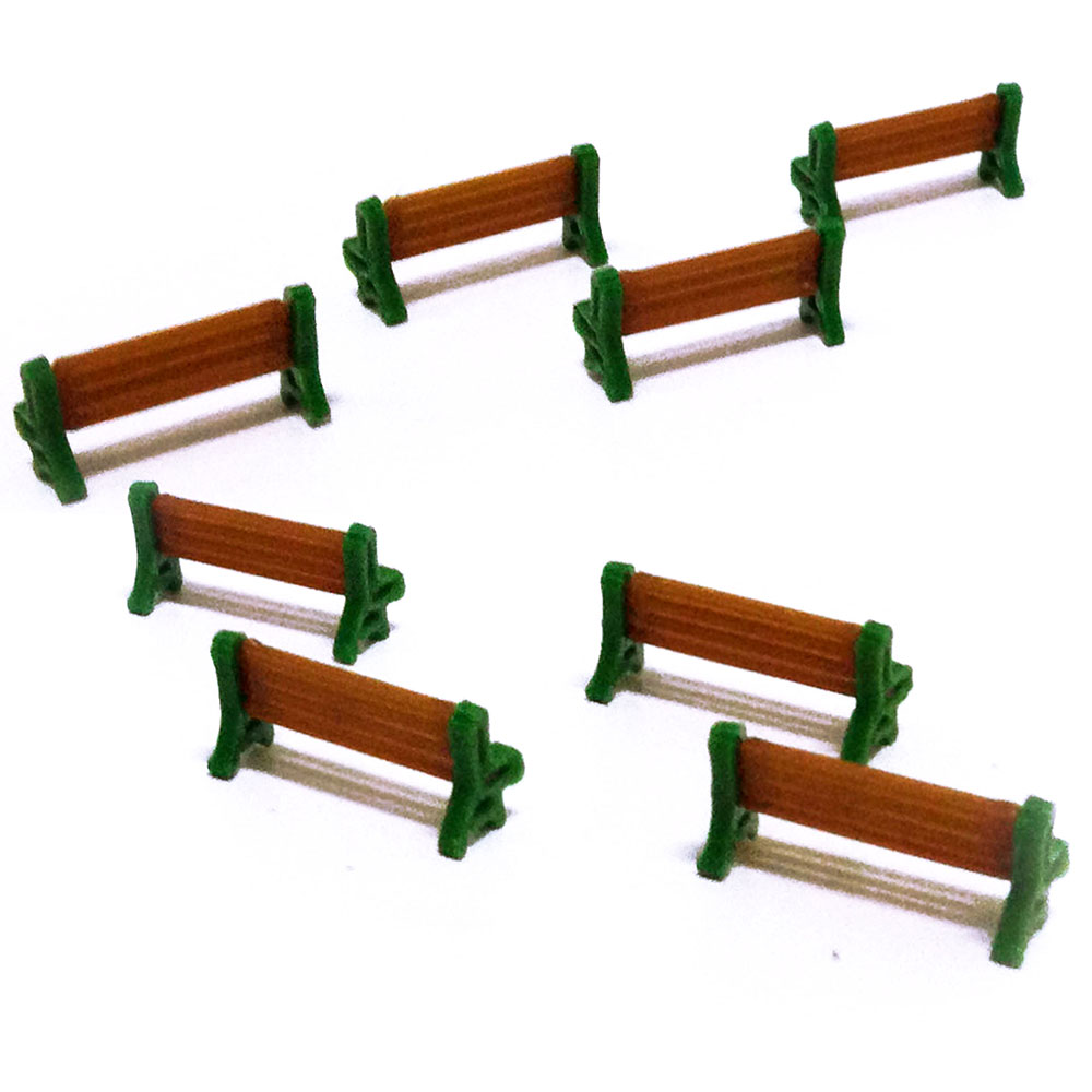 HO 1:87 Scale Park Street Seats Bench Chair Courtyard Chairs Railway Modeling