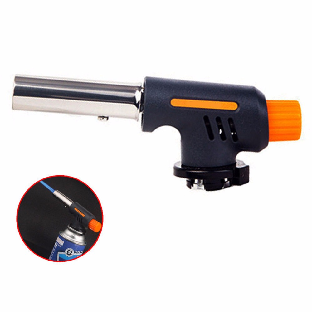 Easy and Safe Barbecue Igniter Stainless Steel Plastic Outdoor Party BBQ Lighter High Temperature Gas Flamethrower Kitchen Tools