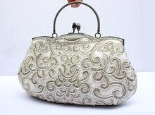 Женщины день рождения подарок вечернее сумки ну вечеринку сцепление сумки сумки хлопнуть вверх вышивка вечернее сумки 03606 — 1