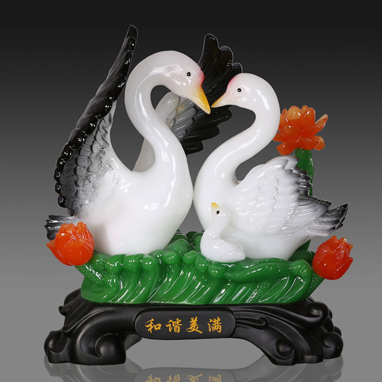 Lucky Harmonious And Happy Swan Ornaments Wedding Gift Ideas Wedding  Marriage Room Furnishings Home Decorations In Statues U0026 Sculptures From Home  U0026 Garden ...