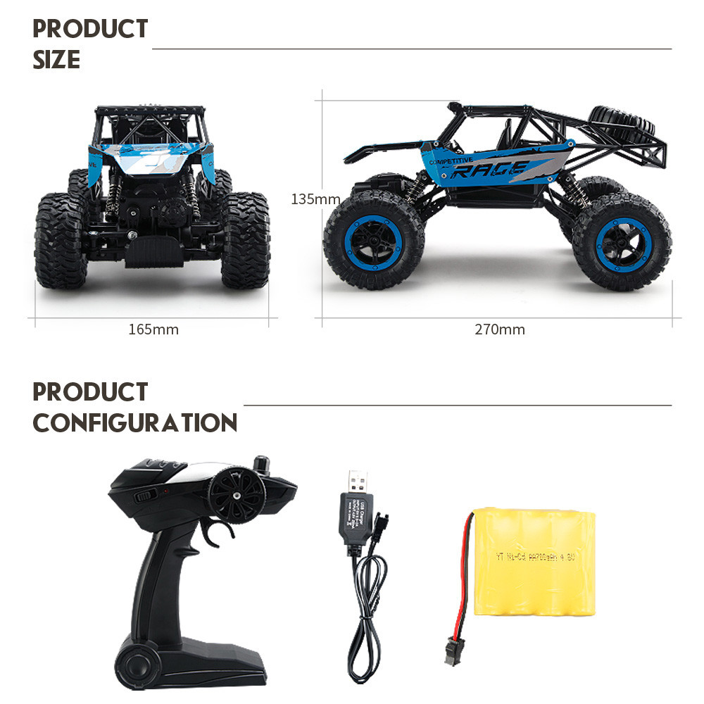 2017 new electric car 1 14 rc toys 2 4ghz rock crawler 4 wheel drive