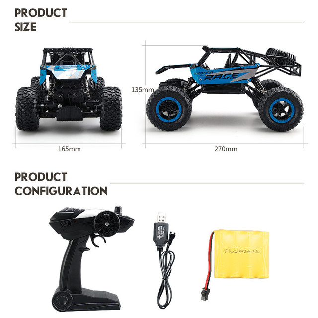2017 Nieuwe Elektrische Auto 1 14 Rc Speelgoed 2 4 Ghz Rock Crawler
