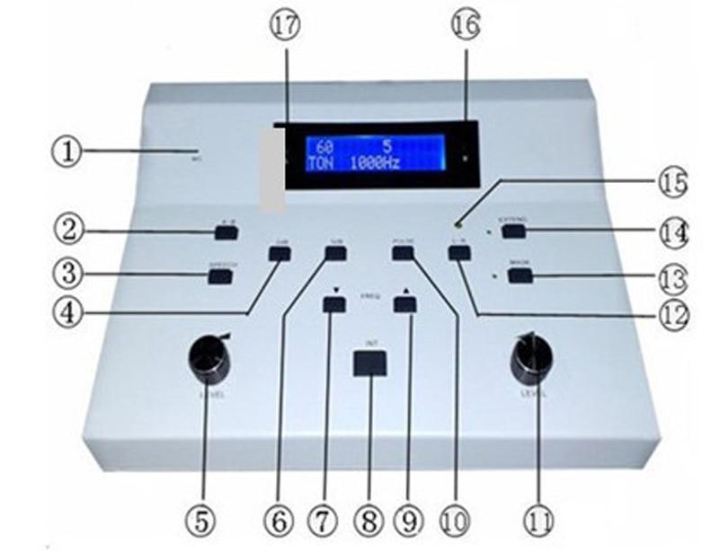 2 canaux utilisé audiomètre clinique Portable soins de l'oreille numérique PC audiogramme Test auditif AD-3A Instrument hospitalier livraison gratuite