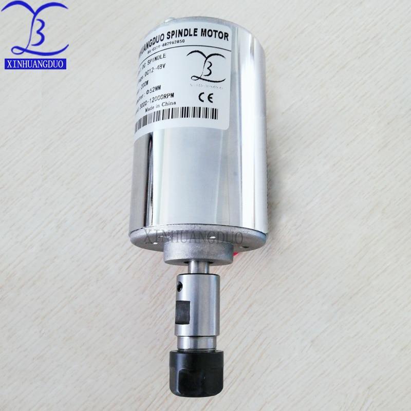 High Speed CNC Starter 12-48V ER11,12000rpm, 200 W Mini Spindle Motor,Engraving Milling Grind Diy Spindle Motor For Cnc Starter
