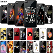 WEBBEDEPP Queen band Freddie Mercury Tempered Glass TPU Cover for Apple iPhone 6 6S 7 8 Plus 5 5S SE X XS MAX XR Soft Case mercury goospery i jelly case for iphone se 5s 5 metallic finish tpu cover black
