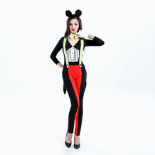 2017 Black sexy cute Minnie costume Cute wave point Mickey Minnie suspenders Mickey clothing Minnie loaded night DS costumes