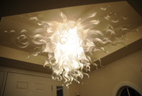 Hot Sale Modern Crystal Chandelier Home Decor Blown Glass Artistic Ceiling Lamps LED Chandeliers