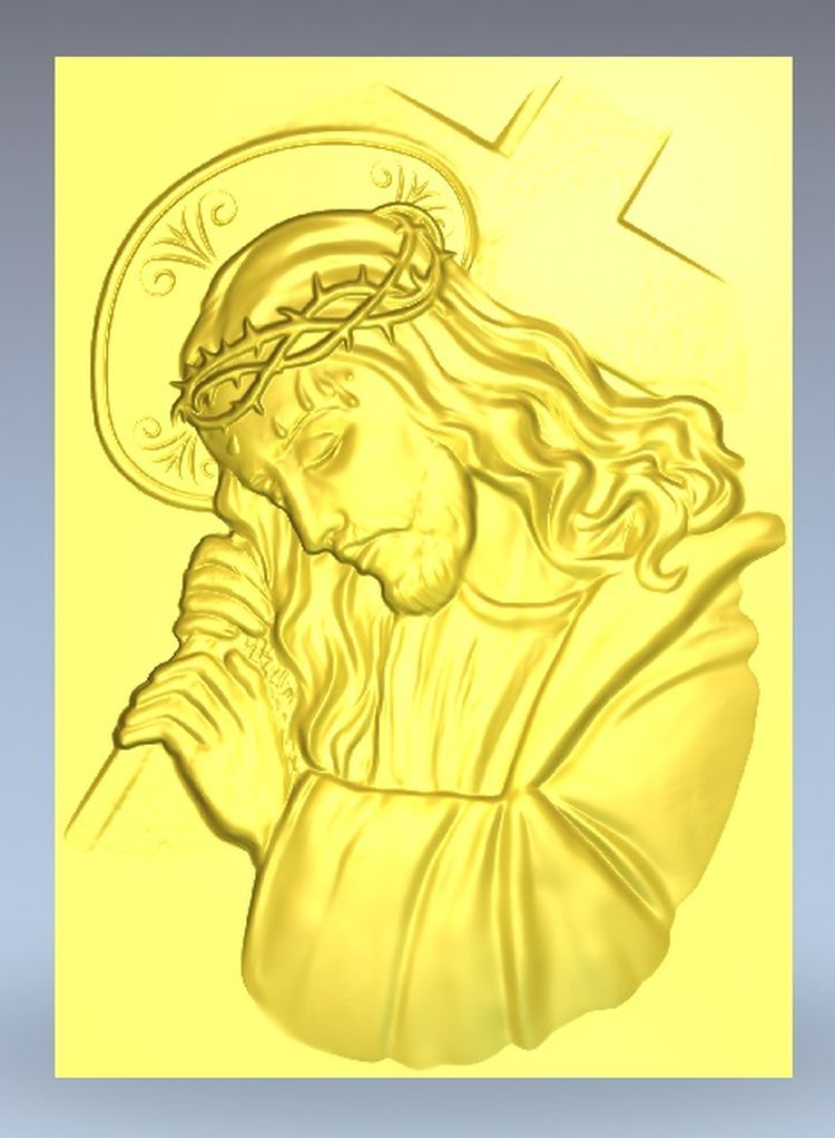 Jesus STL File Format 3d Model Relief Artcam For Cnc Router 72MB