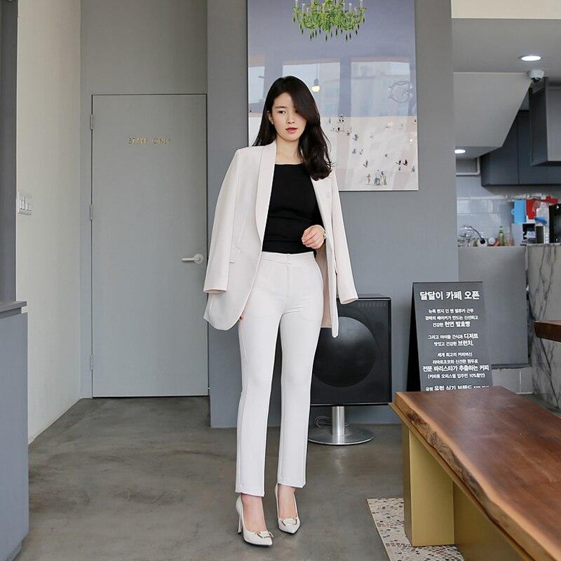 1 Automne Deux Pantalon Outillage Casual Mince Coréenne Mode Et Ensemble Neuf De Dames 2018 Printemps 2 Qualité Ensembles Nouvelle Costume Professionnel Haute 6PqwEPRZ