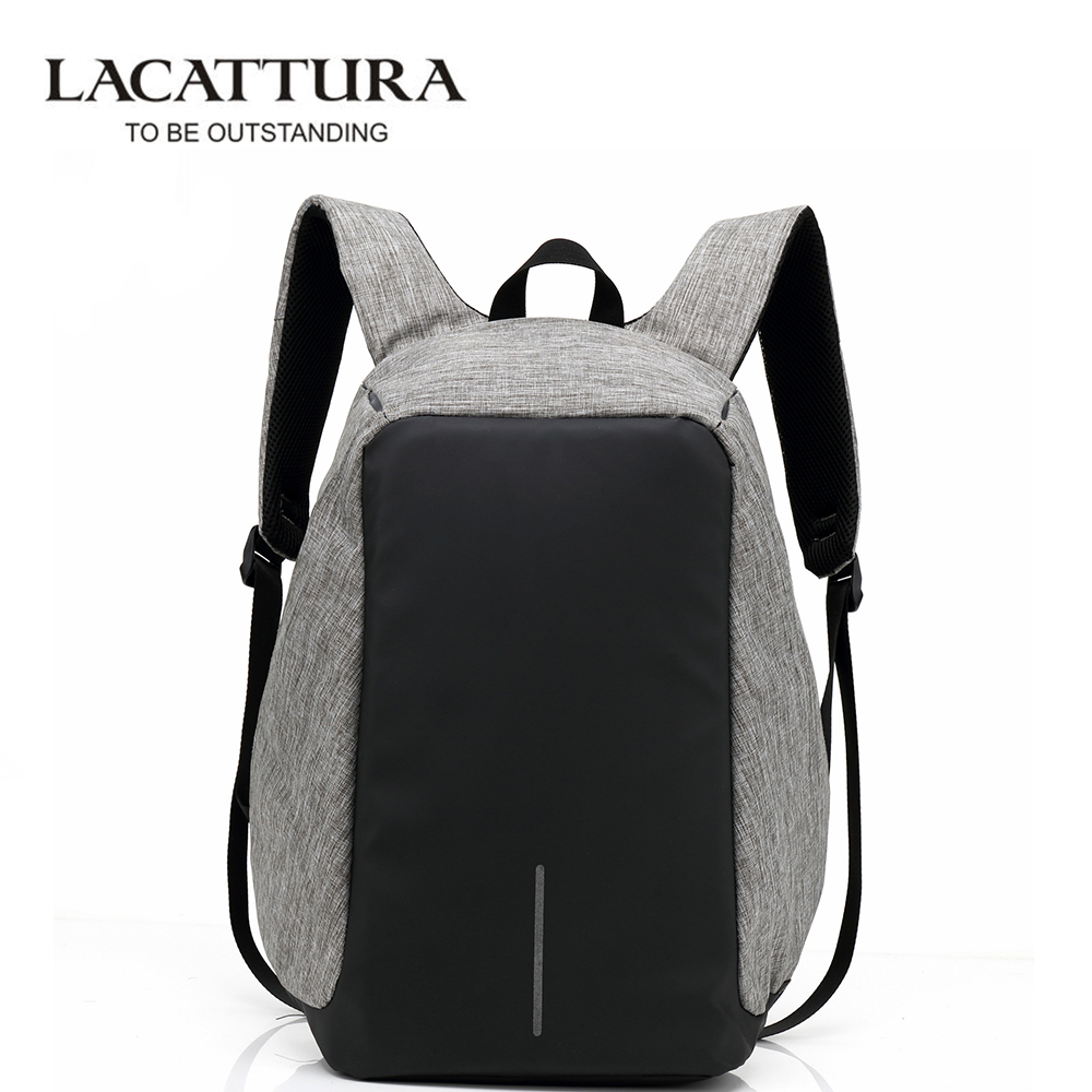 LACATTURA Waterproof Multifunction USB Charging Men Laptop Backpacks for Teenagers Fashion Male Mochila Leisure Travel Backpack anti theft backpack usb charging men laptop backpacks for teenagers male mochila waterproof travel backpack school bag dropship