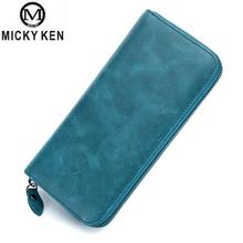 Hot Women Long Clutch Wallet Genuine Leather High Quality Wallets Female Purse Lady Purses Phone Pocket Card Holder Carteras