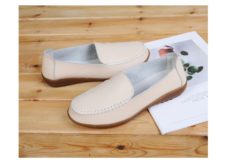 XY 518-2019 Genuine Leather Women's Shoes Soft Woman Loafers-9