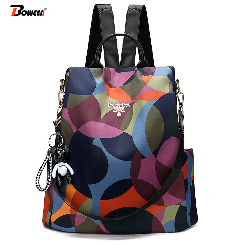 Oxford Backpack Women bag Multifuction Bag pack Casual Anti Theft Back Pack for Girls Teenager Back Bag Schoolbag 2019 NewOxford Backpack Women bag Multifuction Bag pack Casual Anti Theft Back Pack for Girls Teenager Back Bag Schoolbag 2019 New