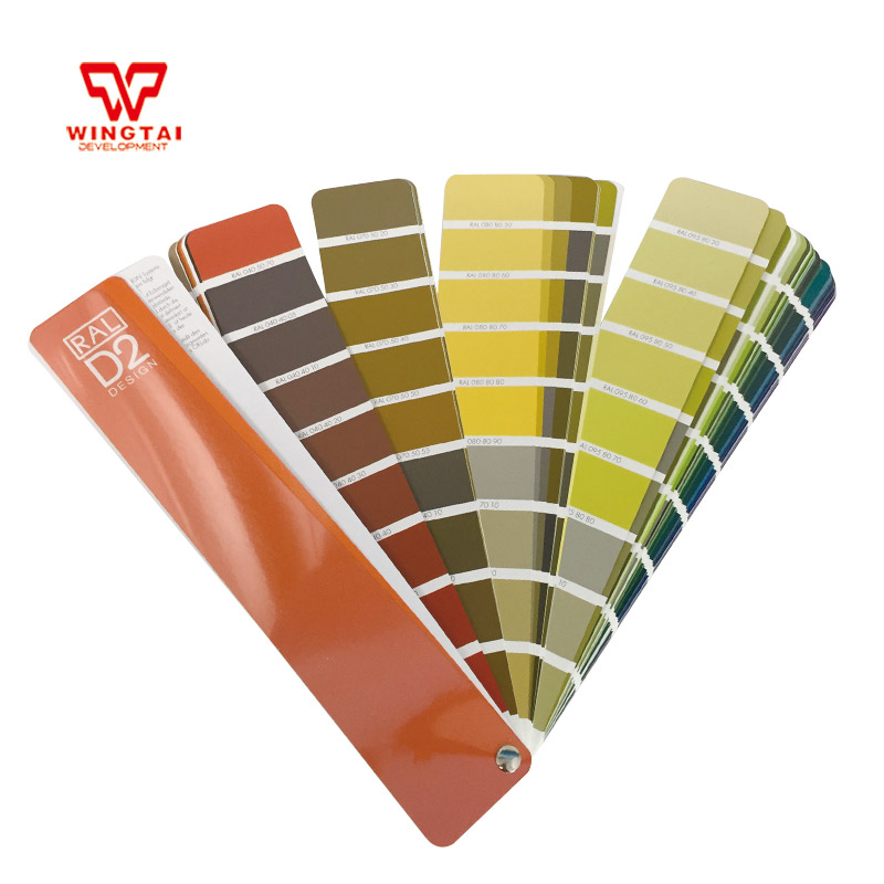 German RAL D2 Design Colour Chart Paint Color Guide With 1625 RAL Design colour цена
