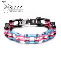 New Fashion Hot Colorful Stainless Steel Bicycle Bracelet Hand Chain High Quality Classical Style For Men