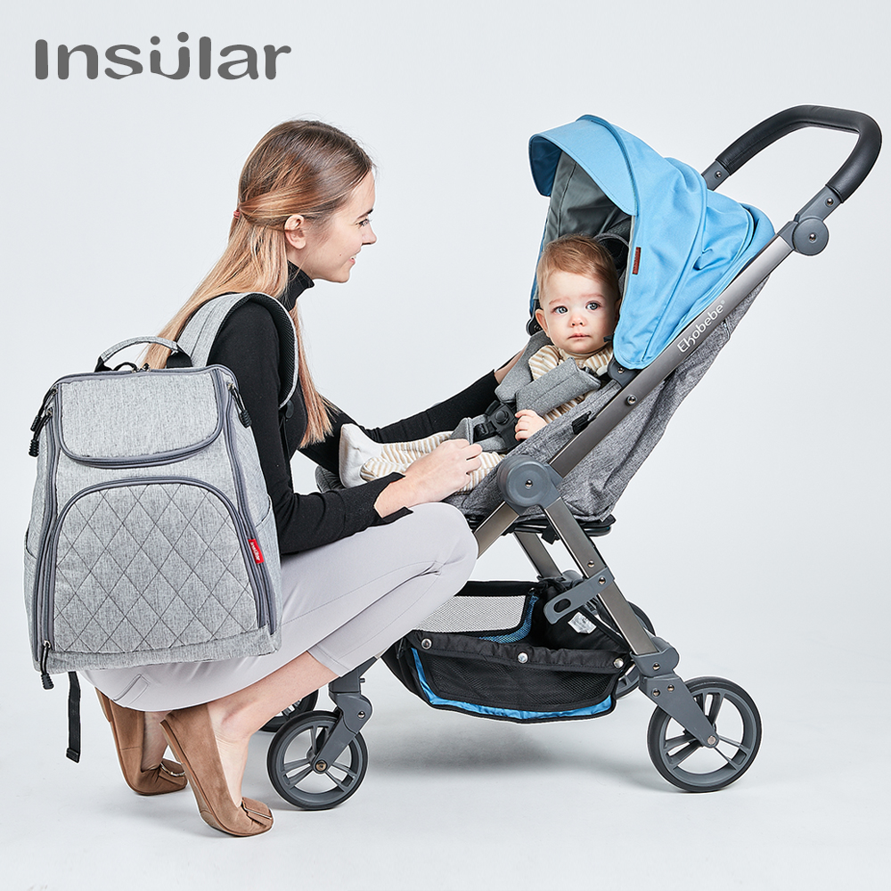 Large Capacity Mommy Diaper Bags Backpack Baby Nappy Bag Designer Nursing Bag Fashion Travel Baby Care Bag for Mother Kid