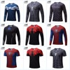 Marvel Super Heroes Avenger Batman Sport T Shirt Men Compression Armour Base Layer Long Sleeve Thermal