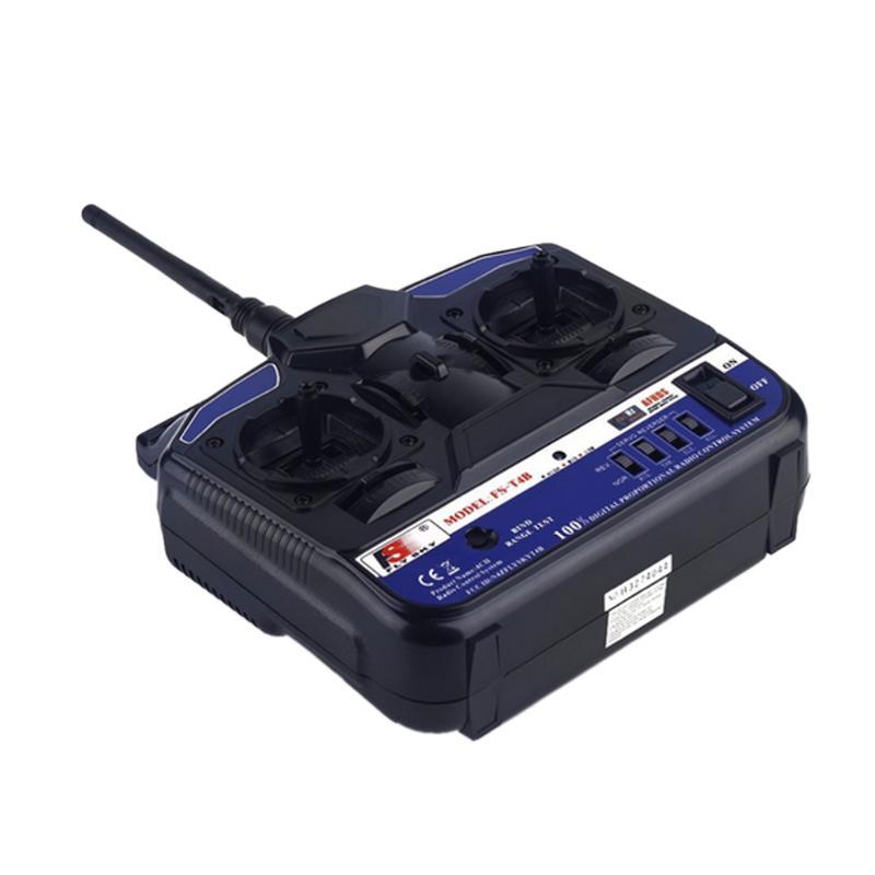 Télécommande et récepteur à 4 canaux 2.4 GHz pour accessoires d'émetteurs de FS-T4B d'avion FlySky indicateurs LED RC