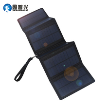 Xinpugaung 10W 5V 2A 6 Folds Portable Solar Charger System for Outdoor Charging Camp Waterproof Solar Rechargeable Folding Bag