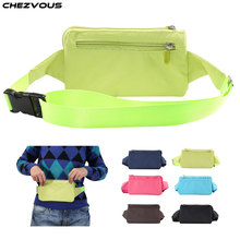 4 Zipper Phone Bag Case Fanny Pack for iPhone Samsung Xiaomi Huawei Nokia Colorful Unisex Belt Pouch Packs 110cm Length