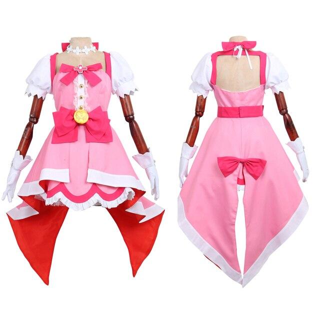 CGCOS Go! Princess PreCure Haruka Haruno  Cure Flora Uniform Dresses Anime  Game Cosplay Costume Halloween Christmas Full set New 165db0450713