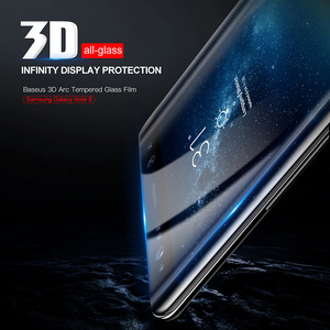 Image 2 - Baseus Screen Protector Voor Samsung Galaxy Note 8 Note8 3D Arc Gehard Glas Voor Galaxy Note 8 Volledige Beschermende Glas film