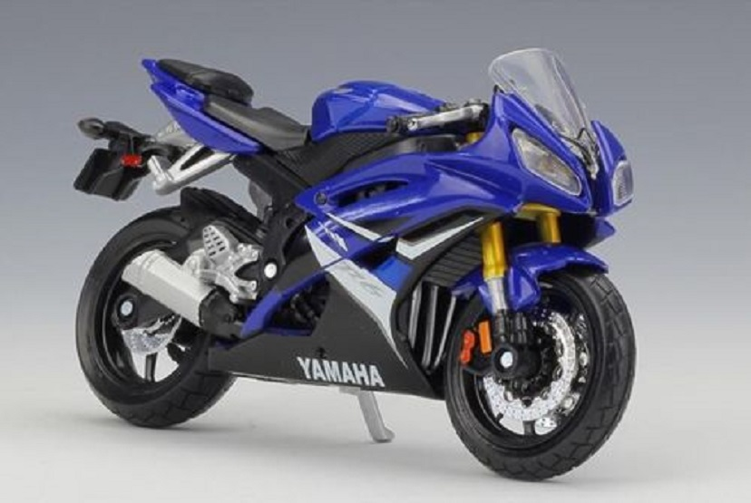 Maisto 1:18 Yamaha YZF-R6 YZF R6 Blue MOTORCYCLE BIKE DIECAST MODEL TOY