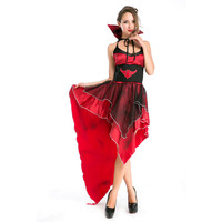Female Disfraces Red Evil Vampire Costumes Halloween Masquerade Sexy Cosplay Costumes Classical Queen Vampire Dress H155288