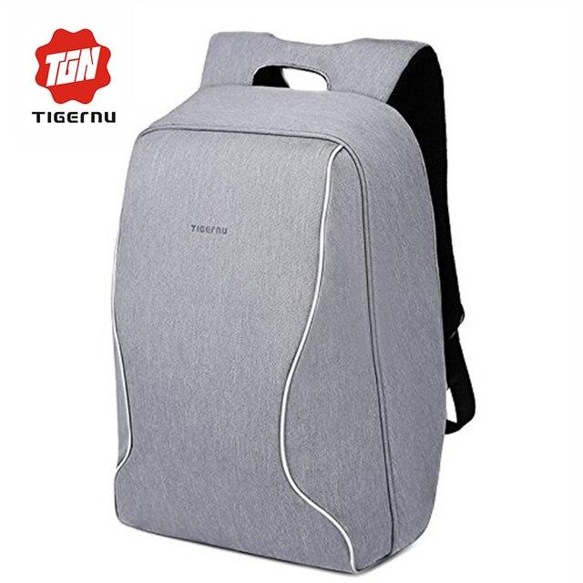 2017 projeto anti roubo 14 polegada laptop saco tigernu mochila das mulheres dos homens saco de computador notebook laptop à prova d' água nylon