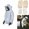 Alta qualidade de proteção de manutenção da jaqueta de terno blusa de 1 par apicultura de manga comprida