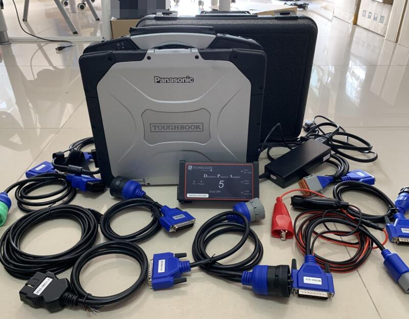 DPA5 Dearborn Protocol Adapter 5 Diesel Heavy-Duty Truck Diagnostic Tool Software Installed In Laptop Cf30 Truck Screen Full Set