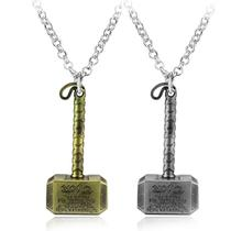 Thor Hammer Necklace Men Jewelry Fans Accessories Avengers Dark World Mjolnir Pendant Christmas Gift