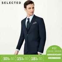 SELECTED male pure color tie collar business slim suit Blazer T|41835X501