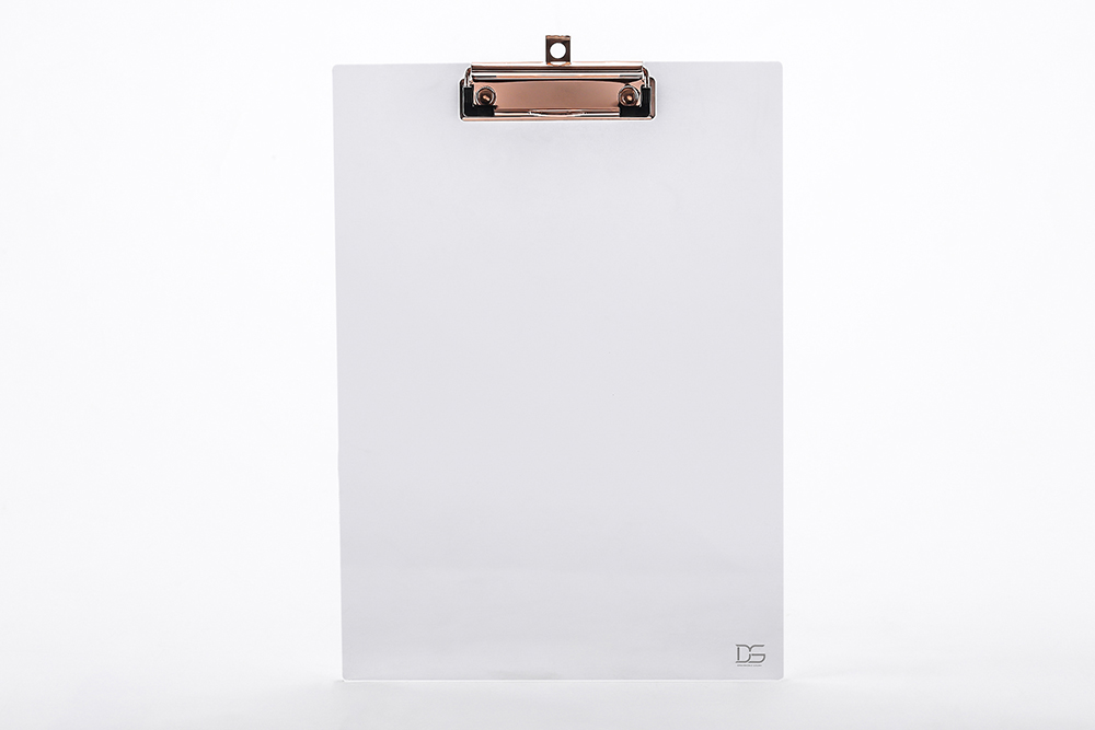 Clear Gold Toned Acrylic Clipboard + Clear Acrylic Photo Frame Fits ...