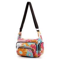 Hot Fashion Women Messenger Bags Print Floral Mini Small Cross Body Shoulder Canvas Hobo Bag Nylon
