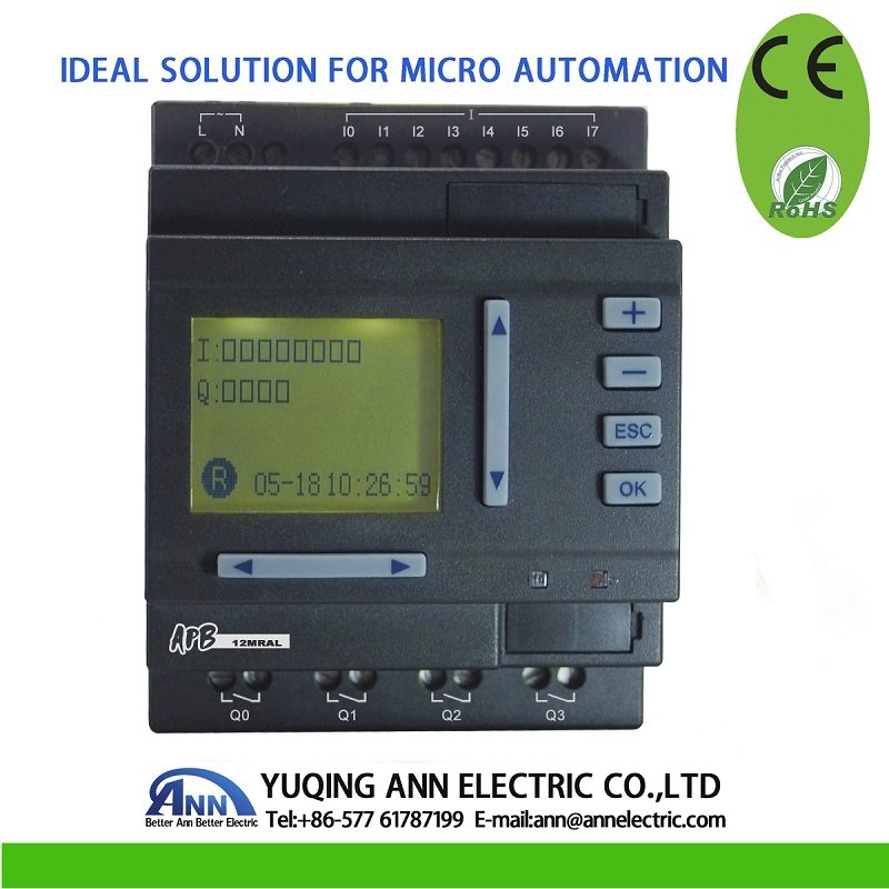 PLC APB-12MRAL With LCD,AC100V-240V,8 points input,4 points relay output цены онлайн