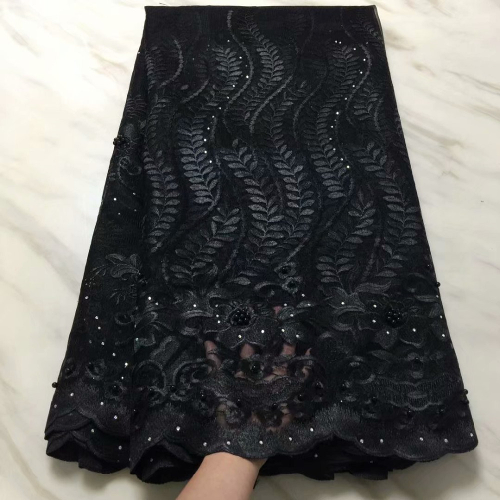 Newest Cheap African Tulle Lace Fabrics With Stones Embroidery Net Lace African French Lace High Quality