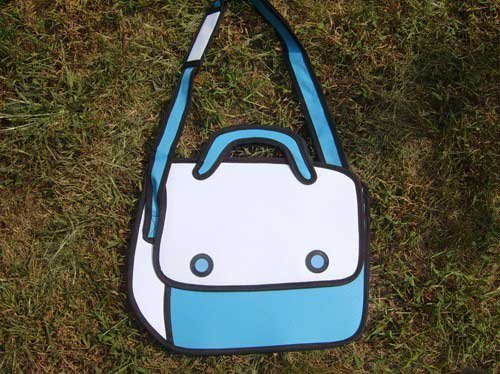 Free shipping 2012 popular woman man Comic cartoon 3D vivid Shoulder Bag HandBag carry in space cartoon bag