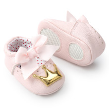 Huang Neeky W#5 модные повседневные новорожденные младенцы Детские Корона для девочек принцесса обувь мягкая подошва Нескользящие кроссовки удобные