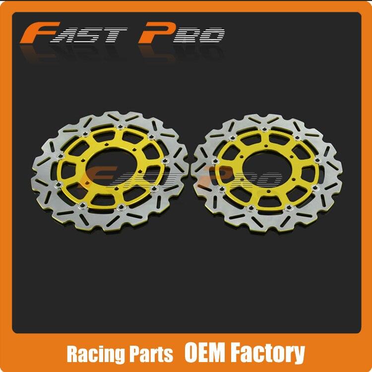 1 Pair Front Brake Disc Rotor For Suzuki GSXR600 GSXR750 08 09 10 11 12 13 14 K8 GSXR1000 09 10 11 12 13 14 K9 alu new folding billet adjustable brake clutch levers for suzuki gsxr 600 750 1000 gsxr600 gsxr750 gsxr1000 09 10 11 12 13 14 15