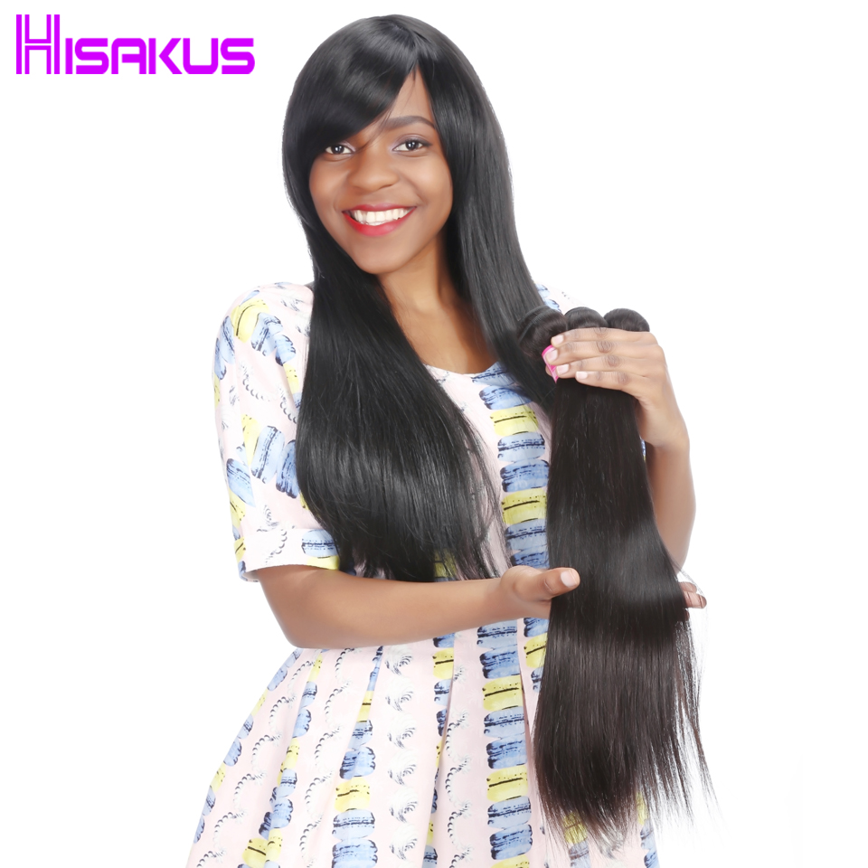 Straight perm damage - Hisakus Straight Hair Peruvian Remy Hair Bundle 100 Human Hair Weave 1 Piece Only Natural Black Can Be Permed
